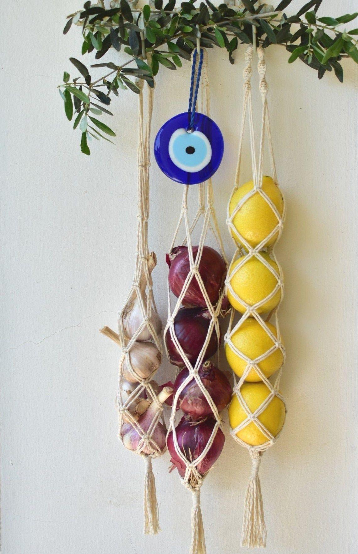 Vegetable Breathable Macrame Storage