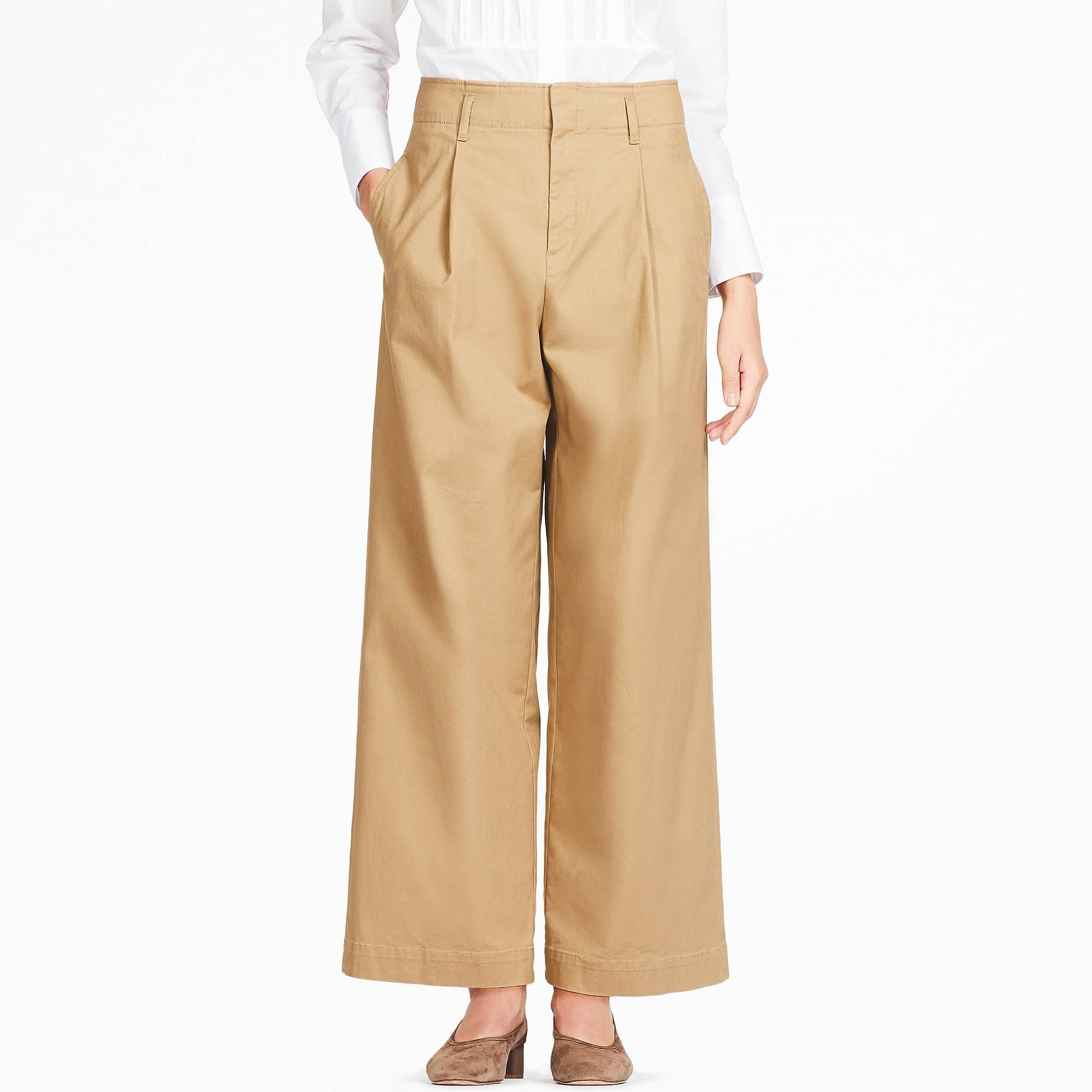 db63ced4a Women high-waist chino wide leg pants | style + ease = steeze ...