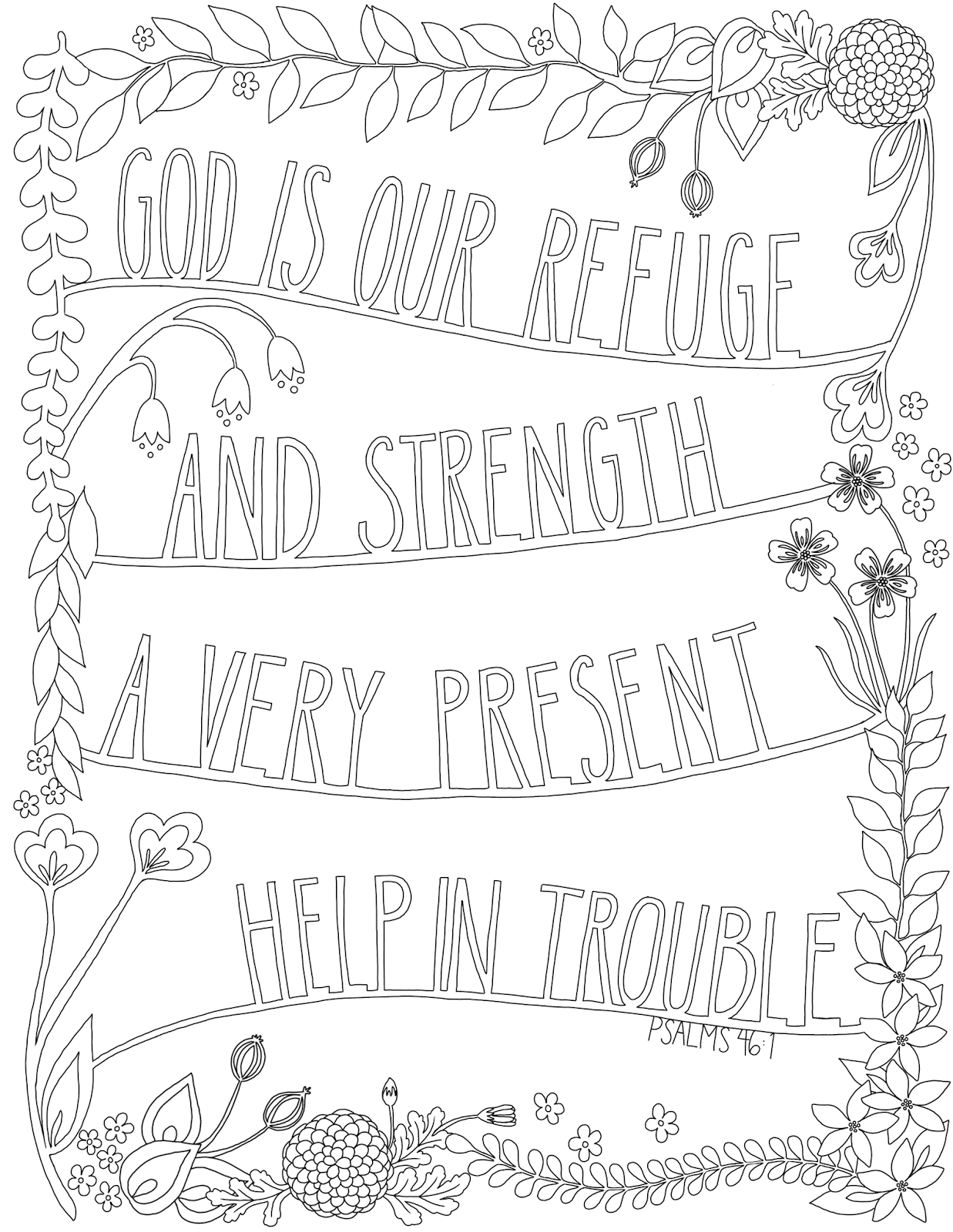 just what i {squeeze} in: God is our refuge -- Coloring Page #19 ...