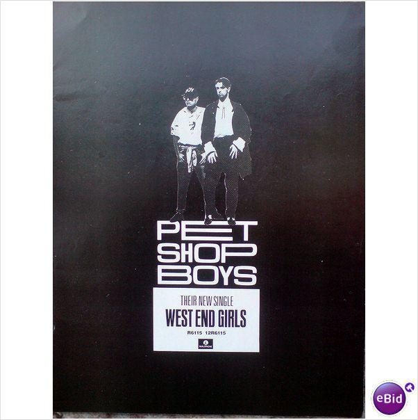Pet Shop Boys West End Girls Magazine Advert 1 Pet Shop Boys