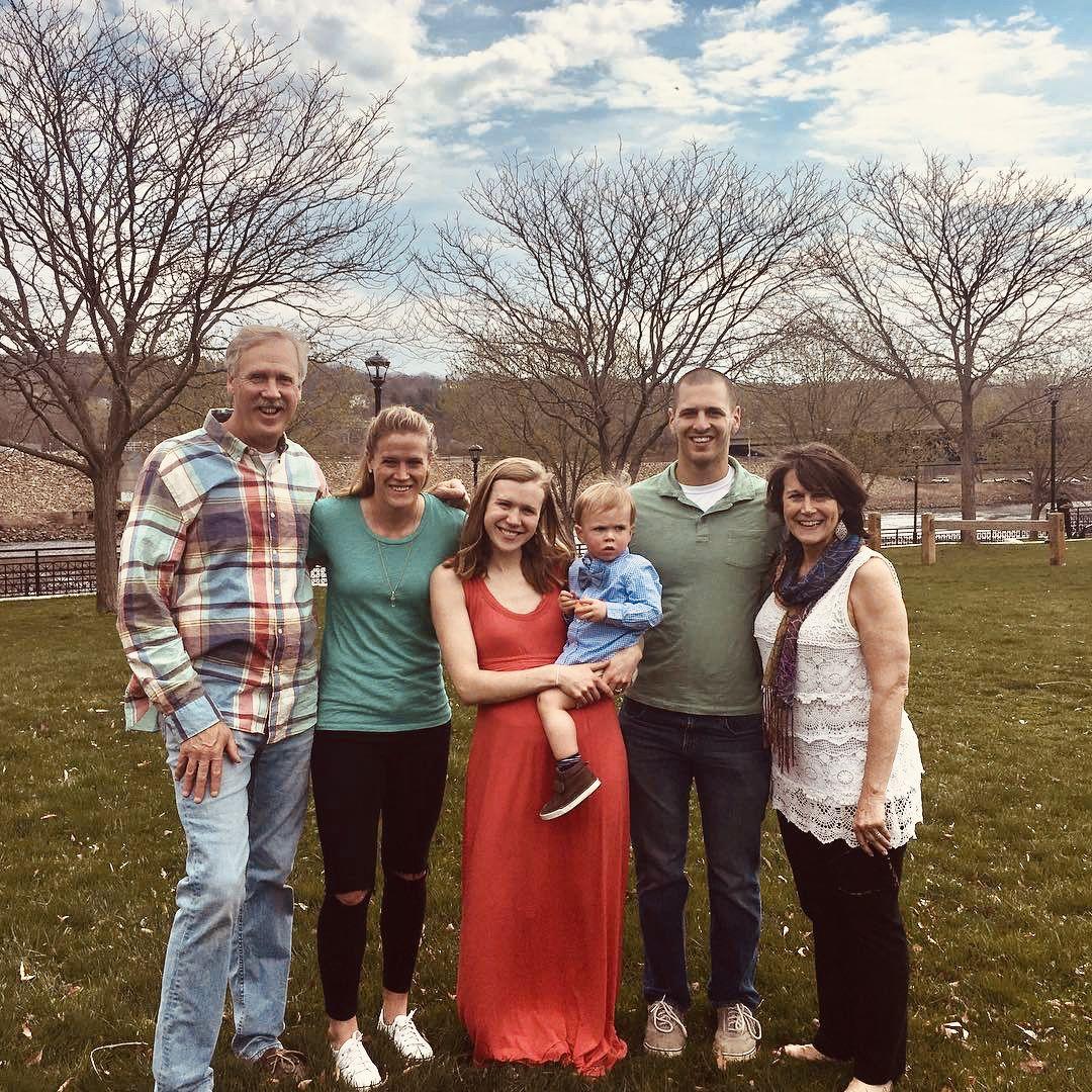 Alyssa Naeher's family: father, John, Alyssa, sister Abby
