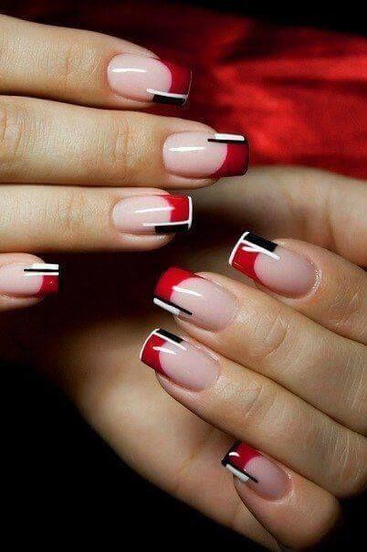 67 Fotos De Unas Color Rojo Red Nails Decoracion De Unas Nail