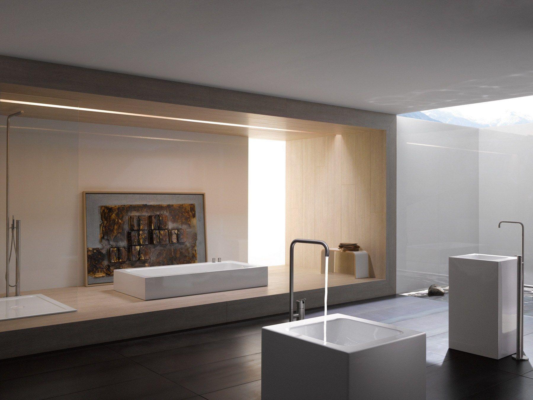 Vasca Da Bagno Relax : Semi inset bathtub betteone relax highline by bette design tesseraux