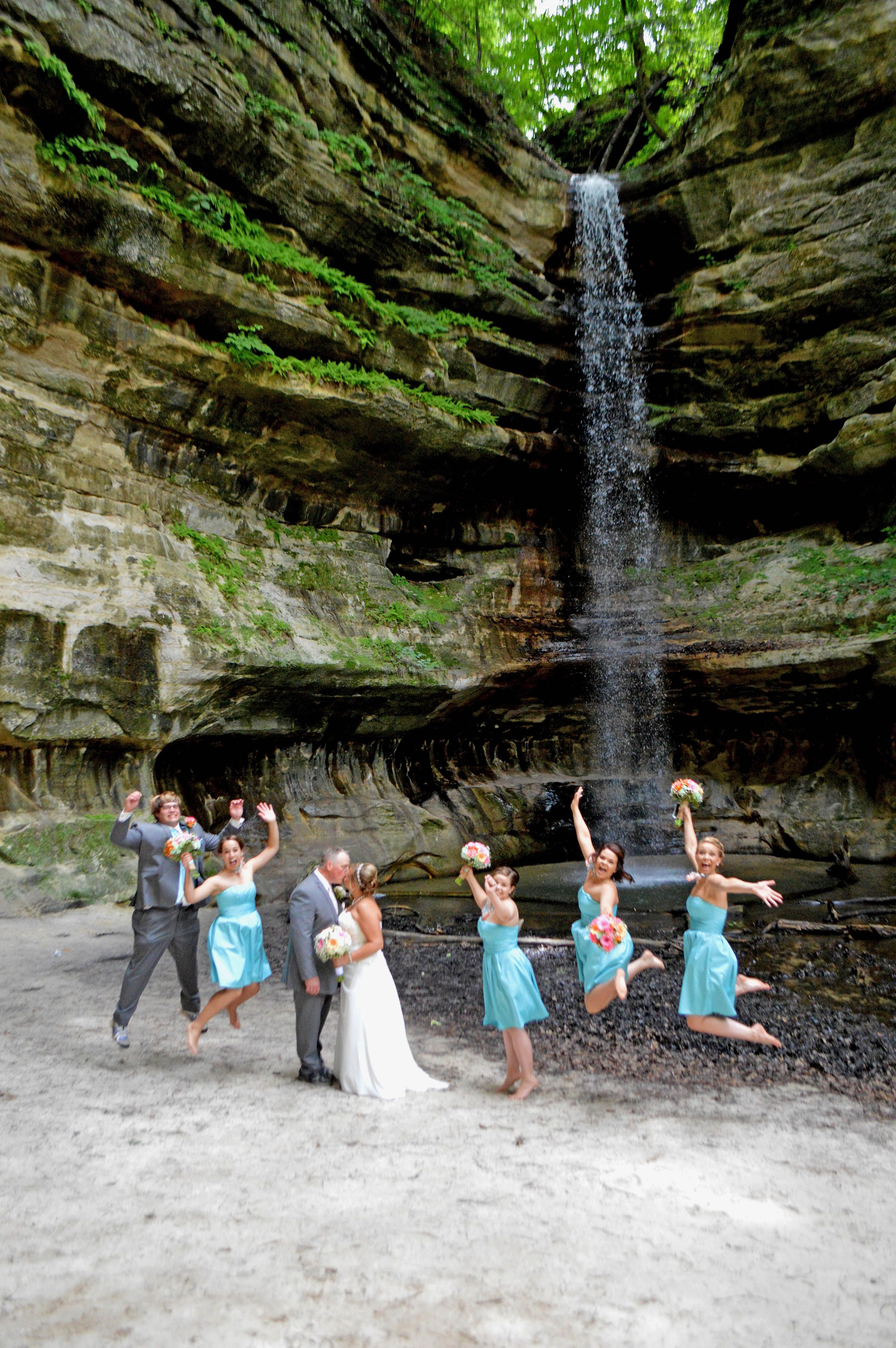 Jumping For Joy At A Starved Rock Wedding Photo Taken St Louis Canyon By Kathy Ctevens