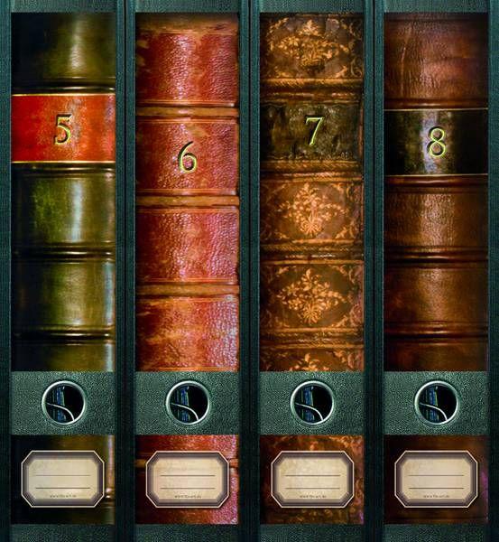 File Art AJUSB02 Design Etiketten Ordnerrückenschilder Bücher