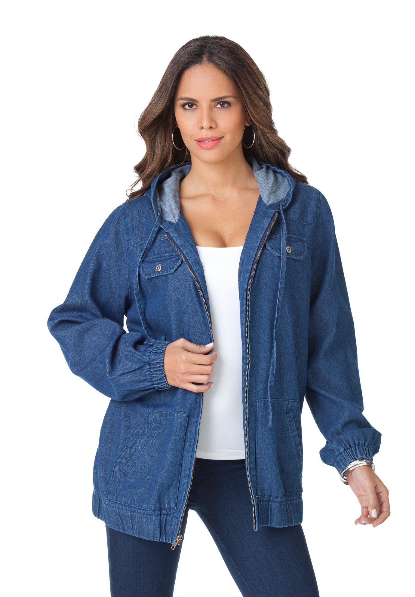 d90980c3b4d Hooded Denim Jacket