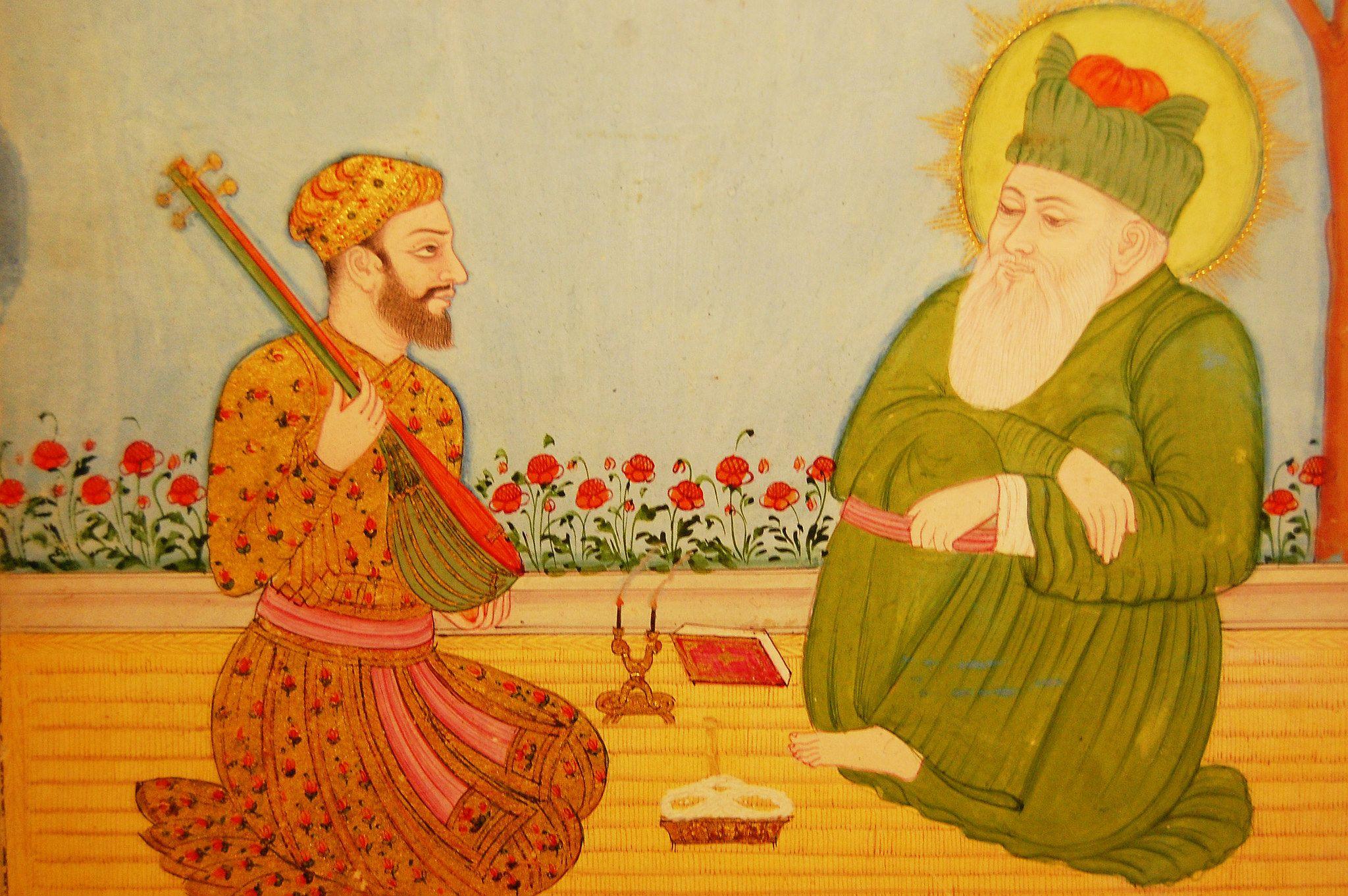 Image result for hazrat nizamuddin auliya and amir khusro painting