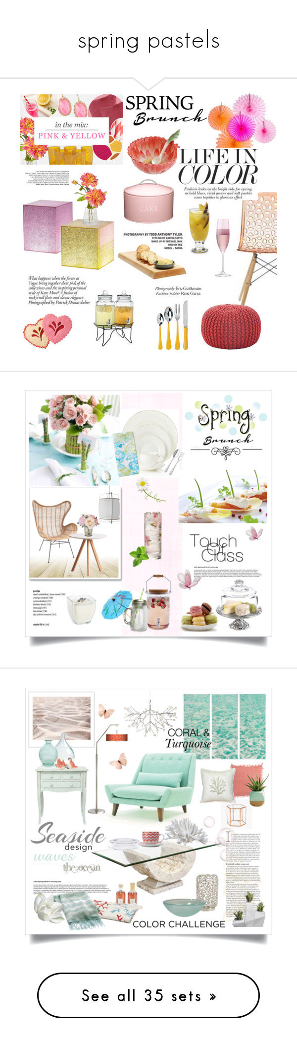 """""""spring pastels"""" by cityzencharms ❤ liked on Polyvore featuring interior, interiors, interior design, home, home decor, interior decorating, LSA International, Bormioli Rocco, Teroforma and Kitchen Craft"""