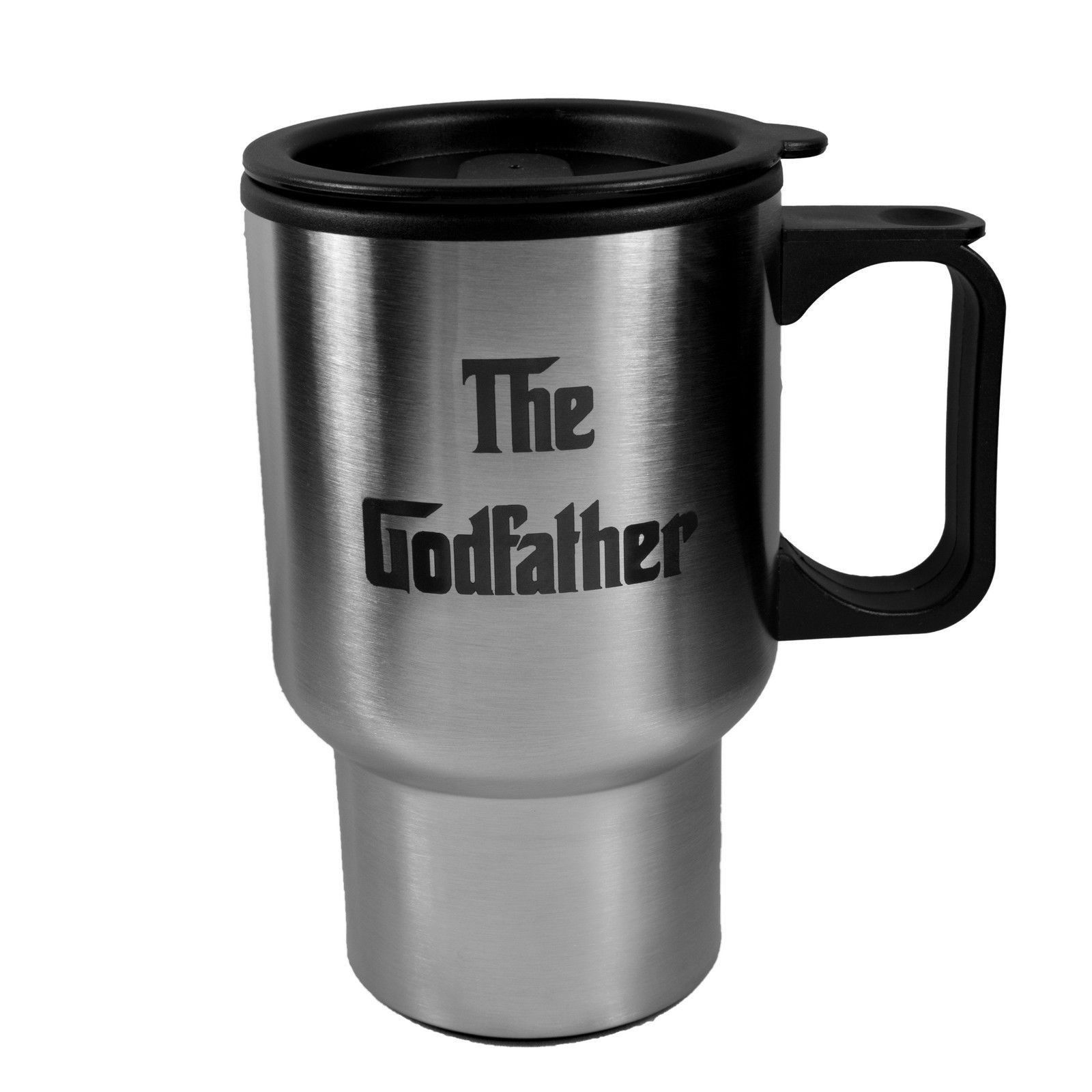 14Oz The Godfather Stainless Steel Travel Mug W/Handle L1