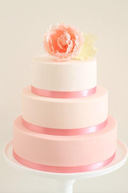 Blush Ribbon Cake