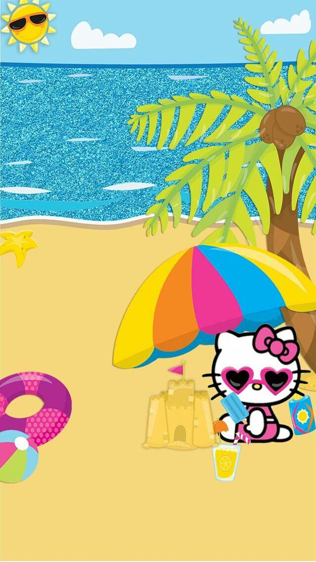 Pin By Laura Haywood On More Wallz Hello Kitty Backgrounds Hello Kitty Pictures Hello Kitty Images