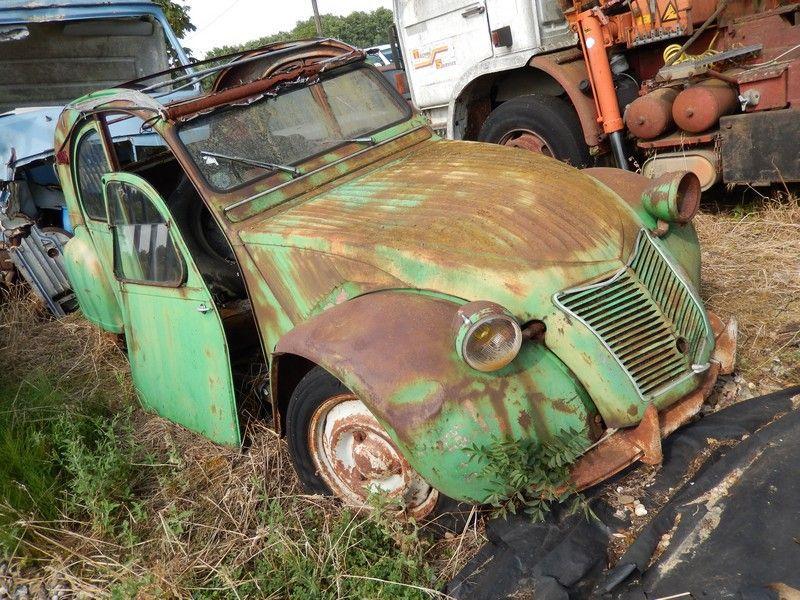 early ridge bonnet 2cv cars rust pinterest abandonn 2cv et casse auto. Black Bedroom Furniture Sets. Home Design Ideas