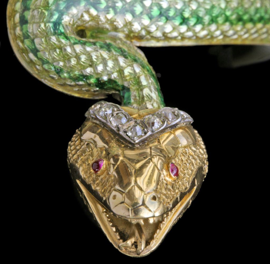 serpent bangle detail