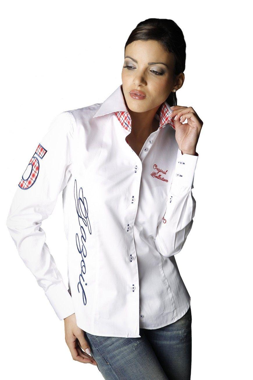 osez les couleurs de l 39 angleterre avec la chemise pour femme manches longues blanche l. Black Bedroom Furniture Sets. Home Design Ideas