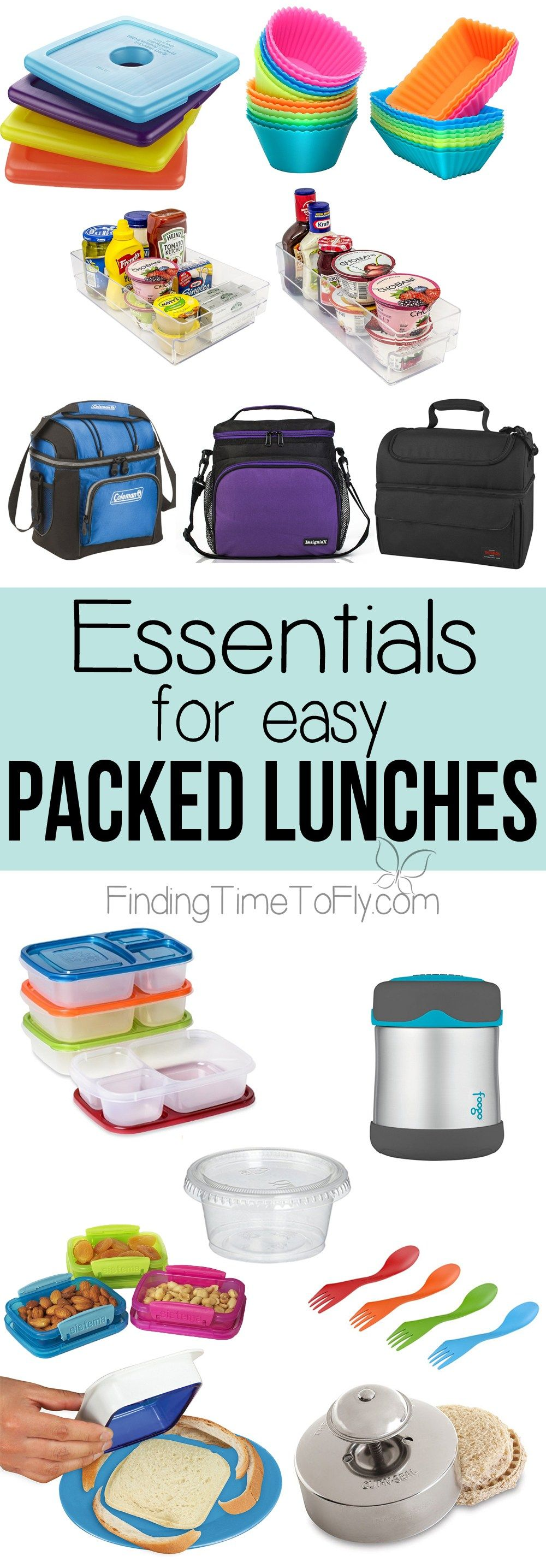 A great list of storage containers and lunch items for easy packed ...