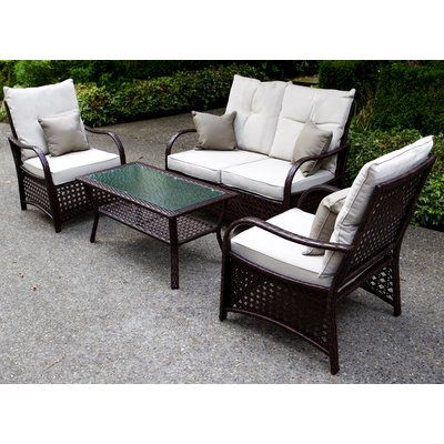 Surprising World Menagerie Cremorne 4 Piece Rattan Sofa Set With Ncnpc Chair Design For Home Ncnpcorg
