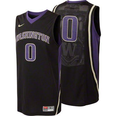 the latest 63a06 1971e Washington Huskies Black Nike Replica Basketball Jersey ...