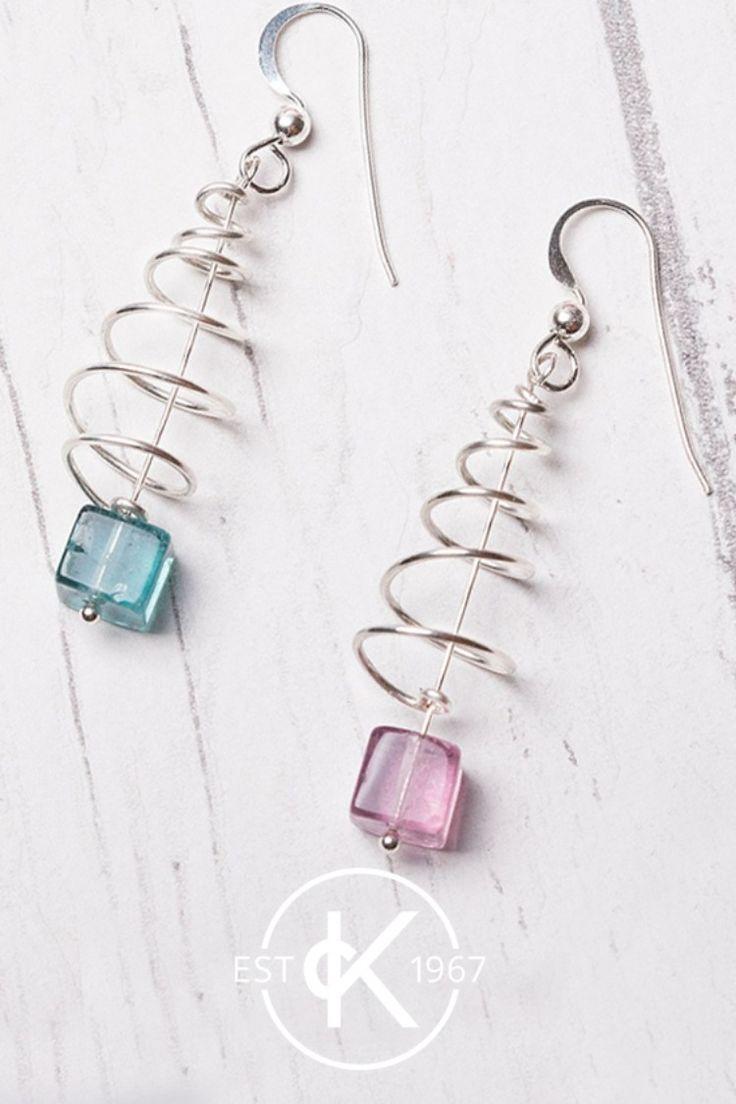 Photo of Spiral Christmas Tree Earrings | Jewellery Making Kit