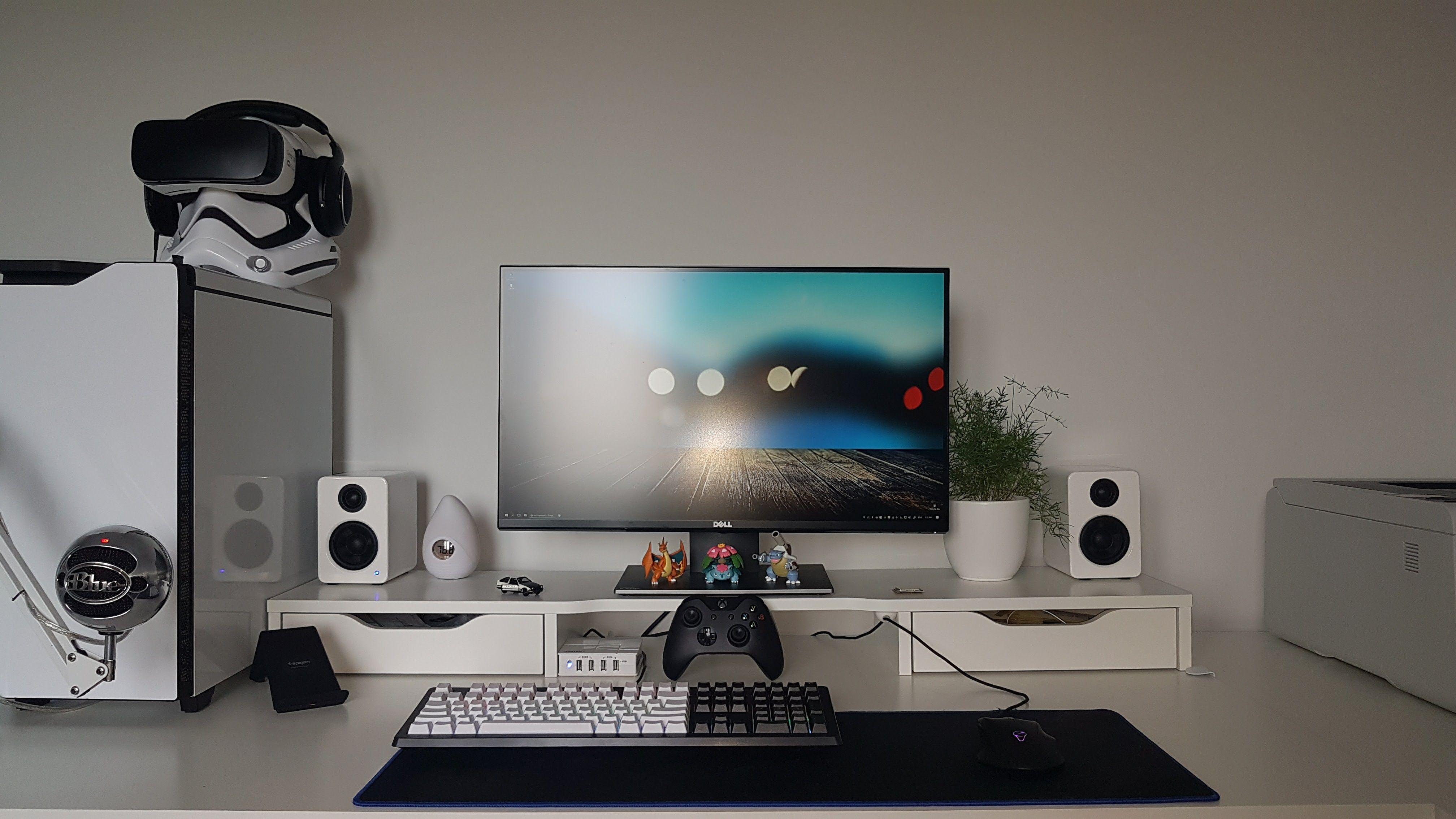 Ghost in 2018 desk setup pinterest gaming setup desk setup