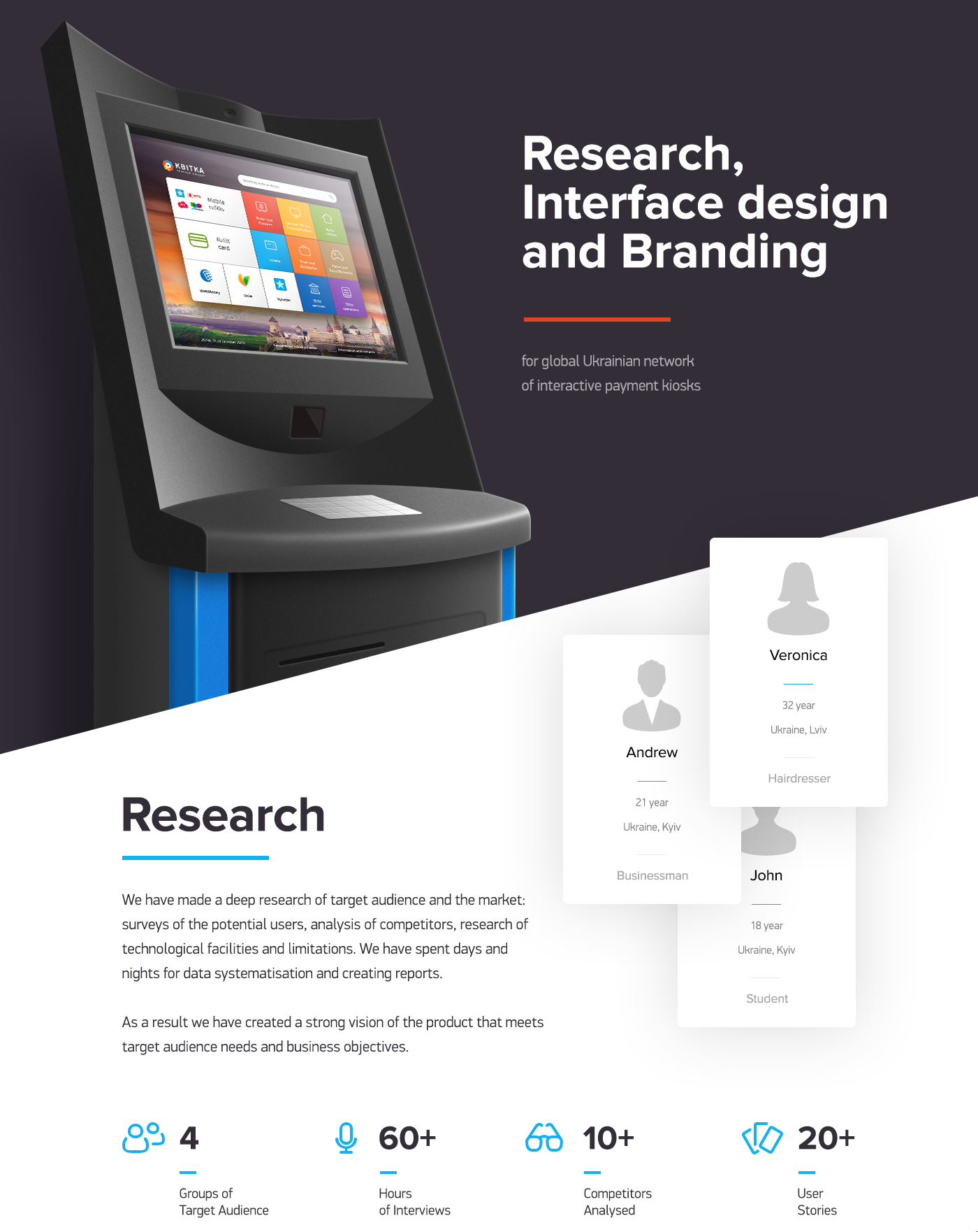 Kvitka Is The Ukrainian Network Of Self Service Kiosks With More Then 20 000 Services To Pay For We Have Creat Interface Design Web Design Examples Tech Design
