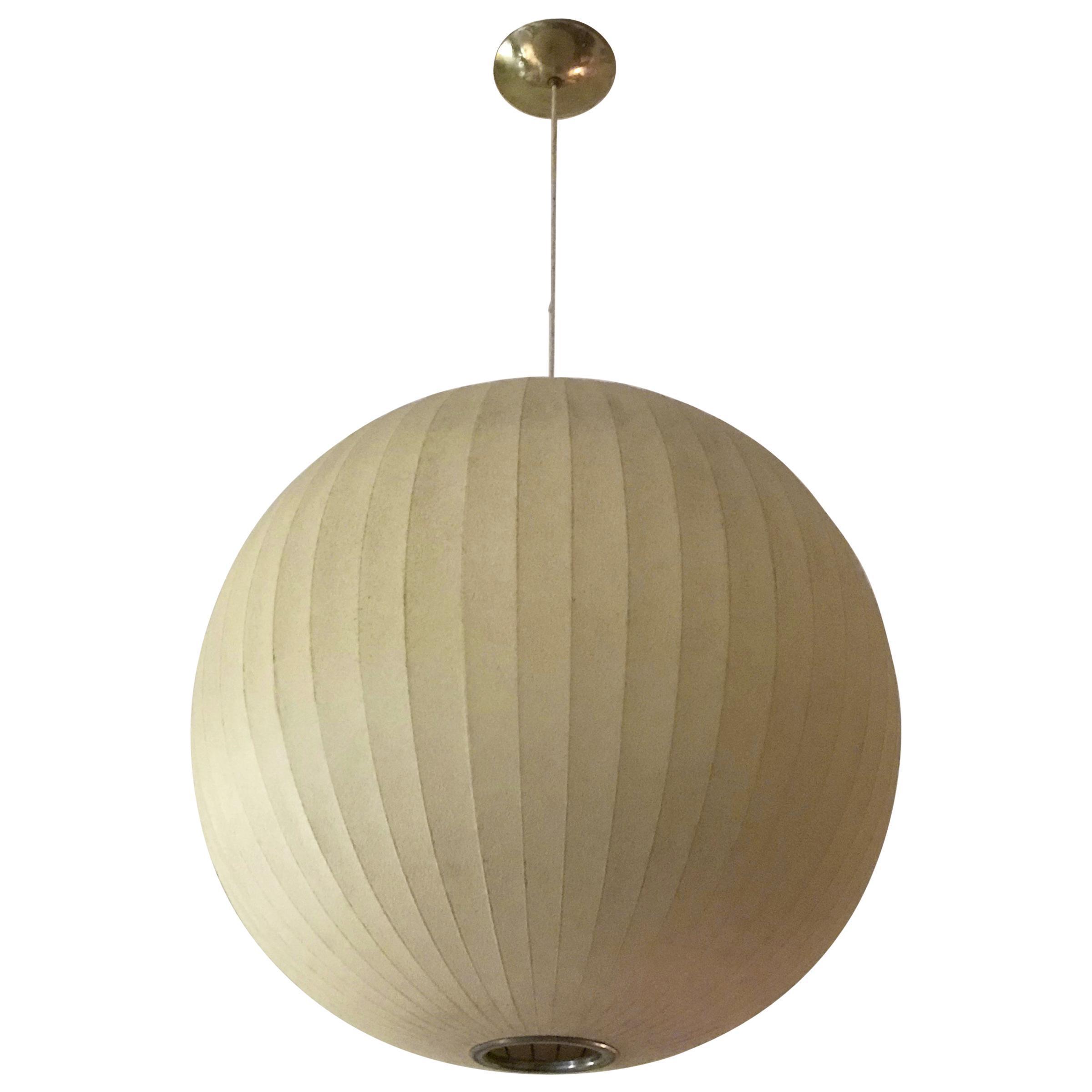 Large George Nelson Bubble Sphere Pendant Light Pendant Lighting Bedroom Nelson Bubble Lamp Globe Pendant Light