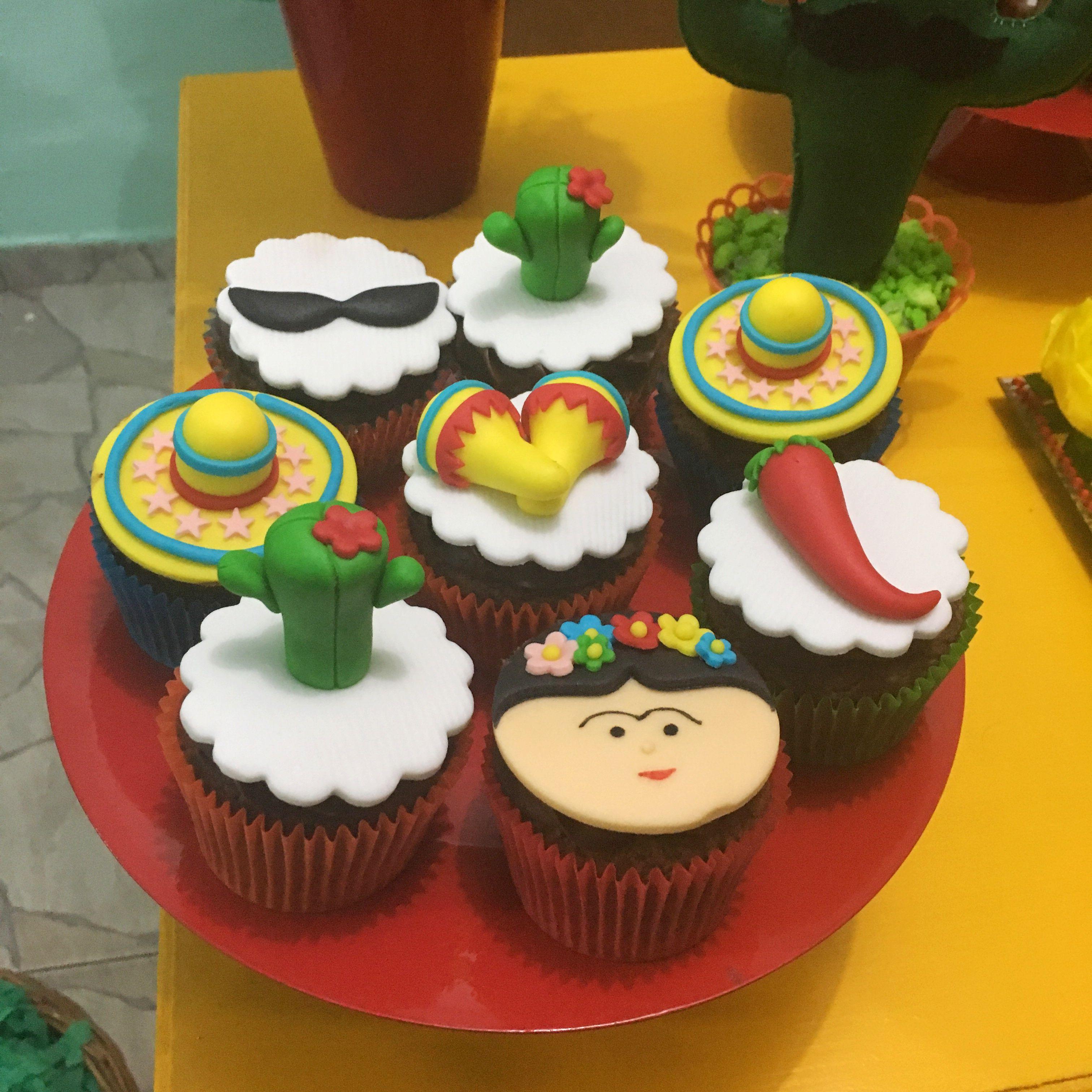 Cupcakes festa mexicana e286f0b4016
