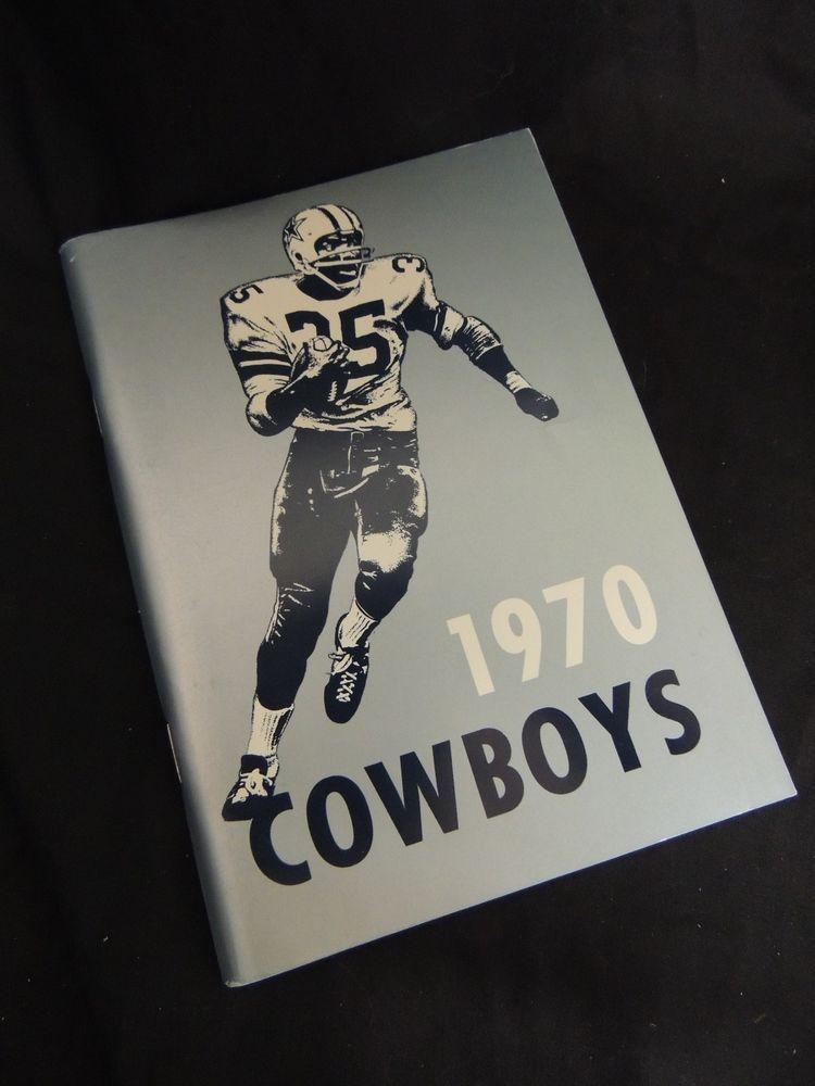 1970 dallas cowboys press book radio tv media guide nfl football