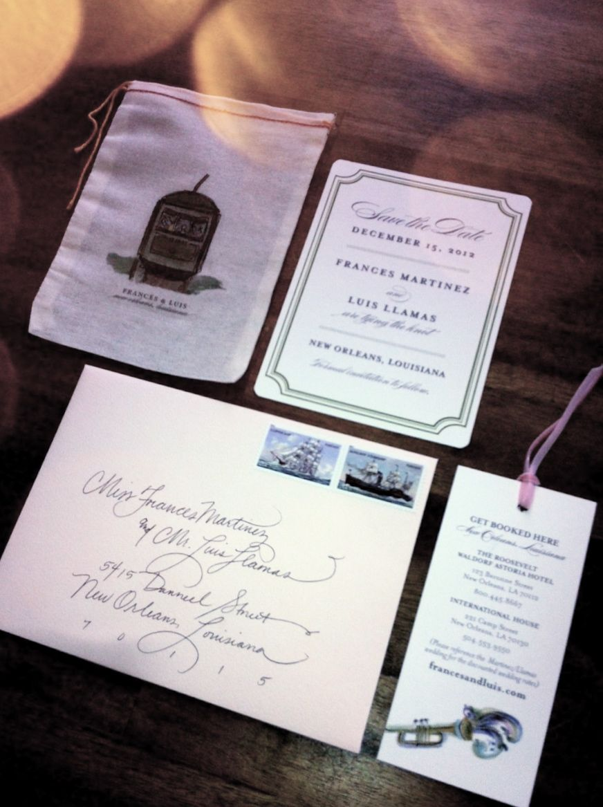 Love my save the dates made by Tupelo Honey Design, New Orleans, LA ...
