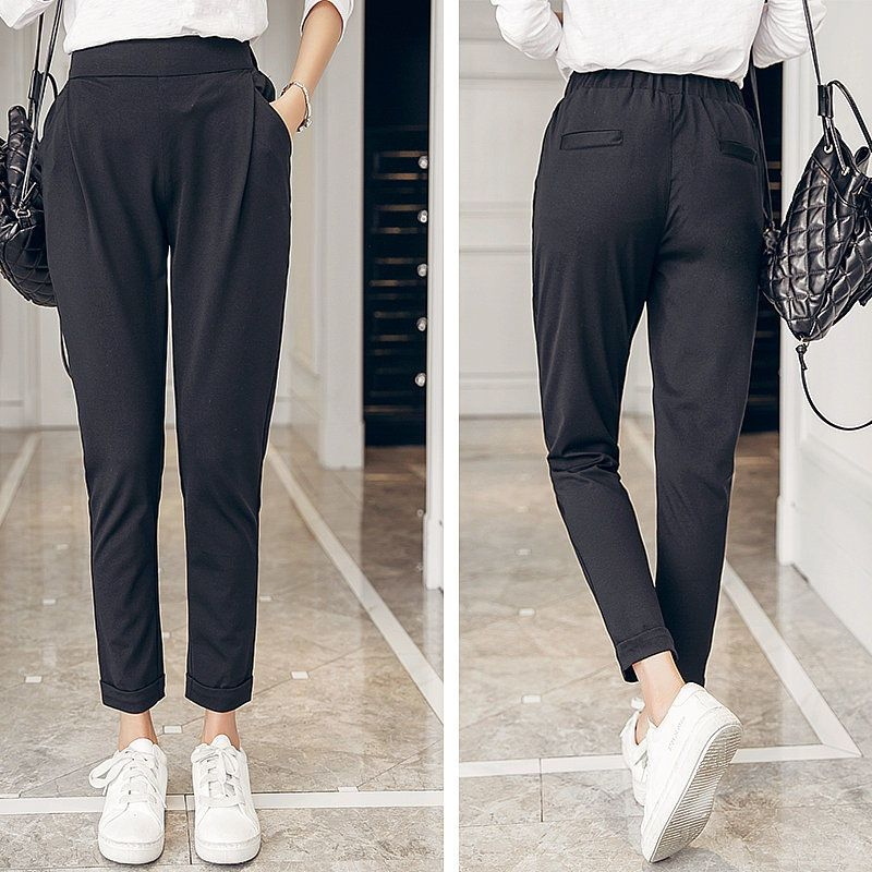 Fashion Street Tapered Band Waist Pants | YESSTYLE
