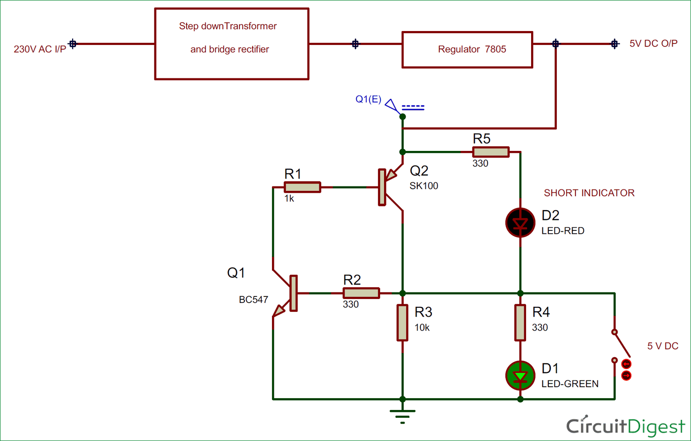 Short Circuit Protection Block Diagram Electronic Diagrams Full Wave Rectifier Connection Electronics Projects Gadgets