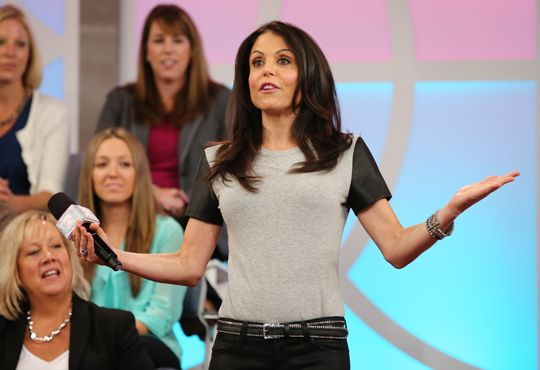 Bethenny's T-Shirt with Pleather Sleeves LaLa Anthony's ...