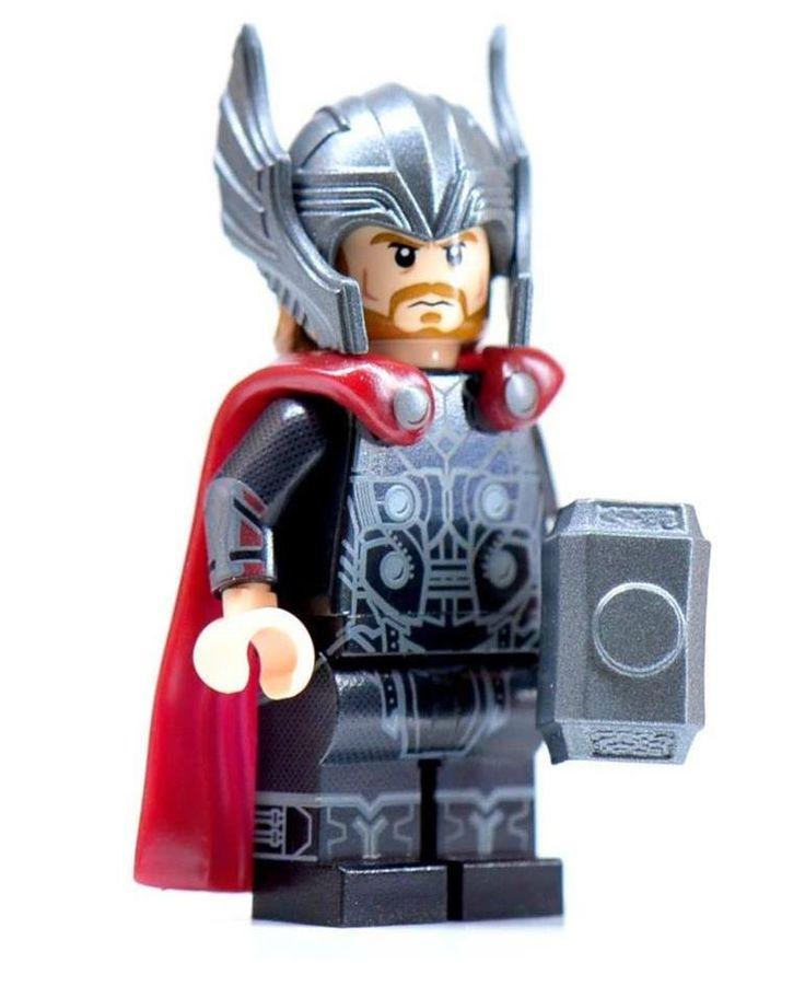 lego CUSTOM THOR THOR minifigure lego Custom PAD UV Printed Marvel Comics