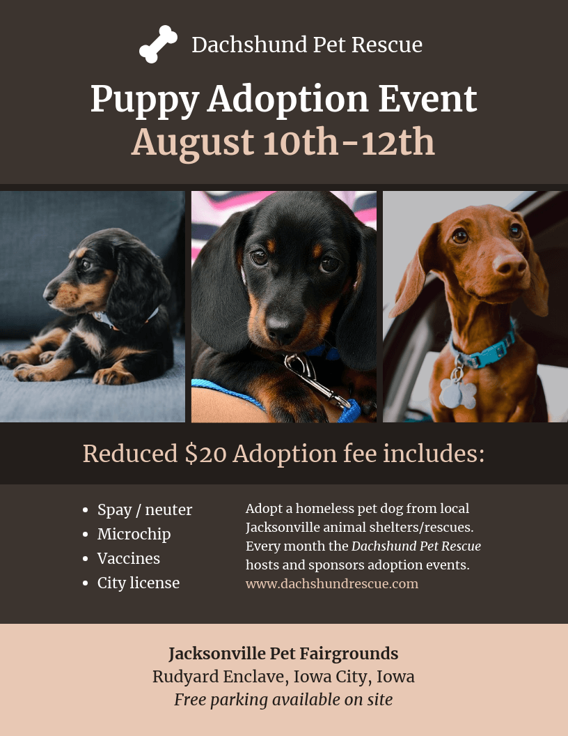Nonprofit Pet Adoption Event Poster Template Customize This Nonprofit Pet Adoption Event Poster Templ In 2020 Event Poster Template Pet Adoption Event Pet Adoption