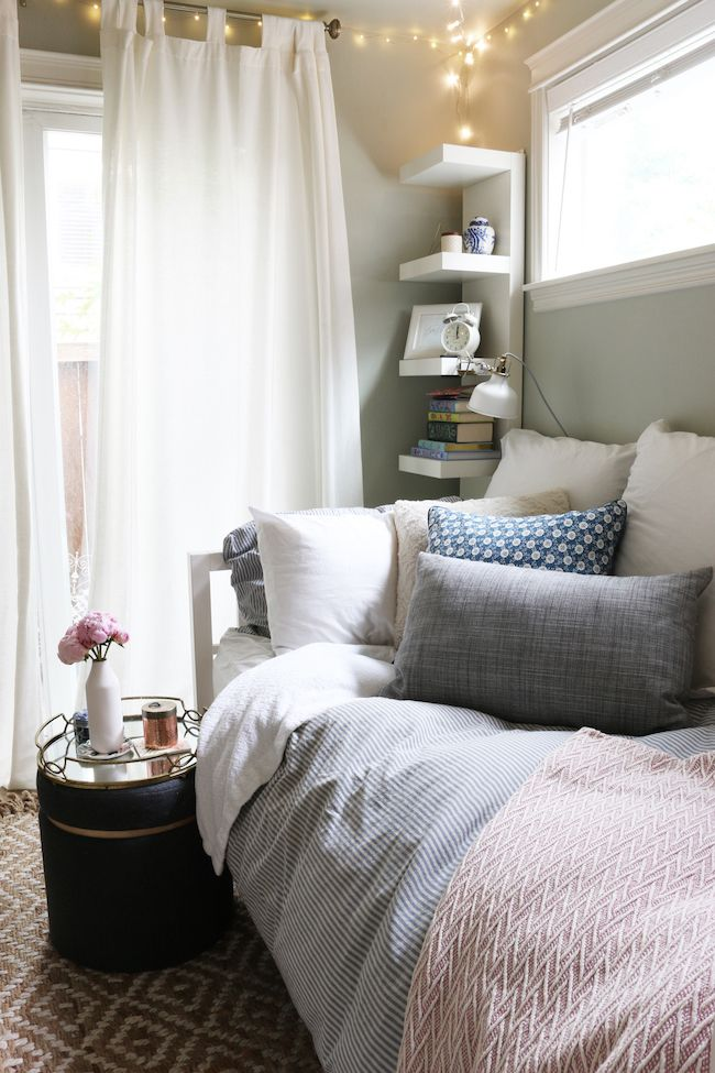 Tiny Bedroom Tour Courtney S Room Small Guest Bedroom Small