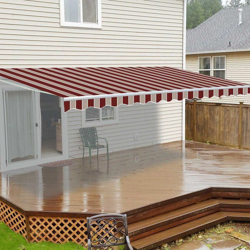 13 Ft W X 10 Ft D Retractable Patio Awning Backyarddeckdesigns Pergola Patio Design Pergola Plans