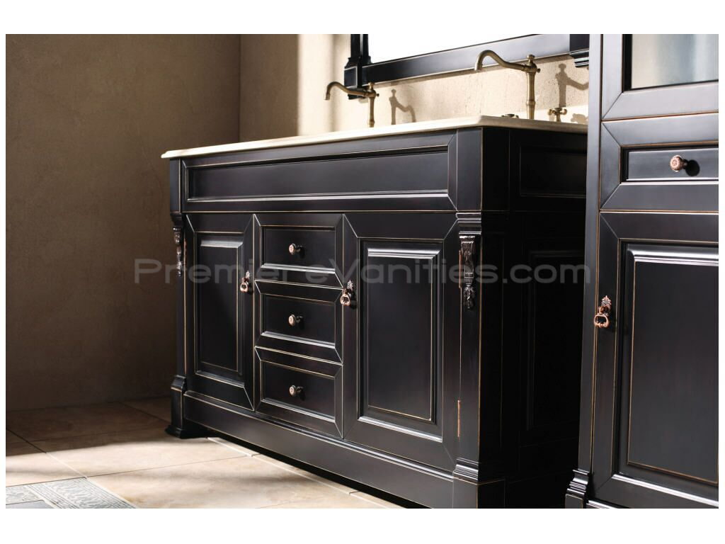 Dresser Sink 60 Inch Bathroom Vanity Cabinets Double Sink Vanity With Antique Master