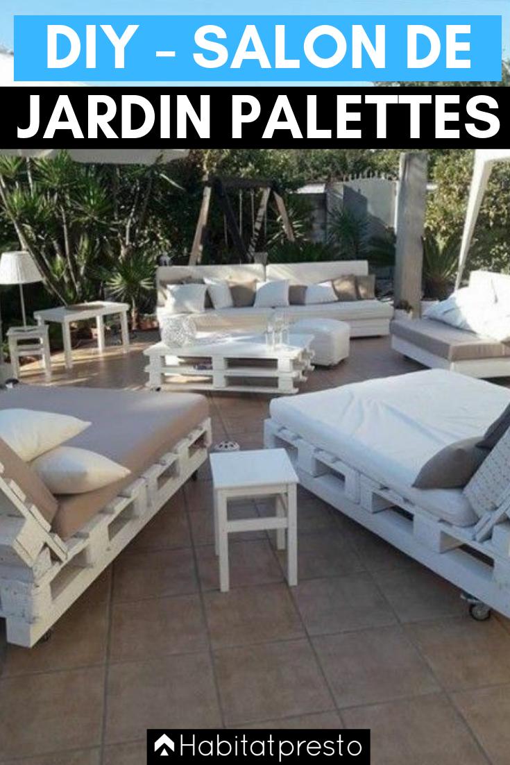 Fabriquer Banquette En Palette salon de jardin en palettes : 10 idées déco originales