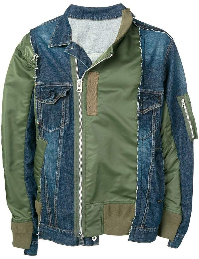 585fae9a9 Sacai contrast bomber jacket in 2019 | Products | Jackets, Bomber ...
