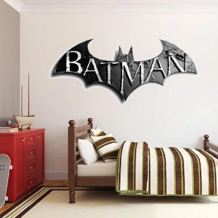 Super Hero Gotham Batman Wall Stickers Art 3D Posters Decals Murals Decor RG5