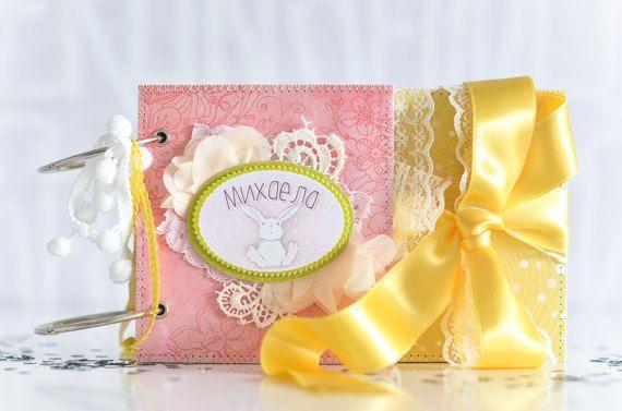 Scrapbook Baby Girl Album Baby S First Year Album Newborn Book