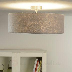 Deckenleuchte Gala 50cm Filzschirm Grau Beleuchtung Decke Leuchtstoffrohre Aussenleuchten