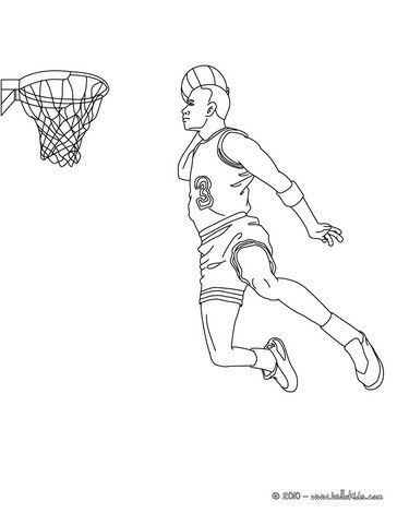 Basketball Player Coloring Pages | Coloring pages, Preschool