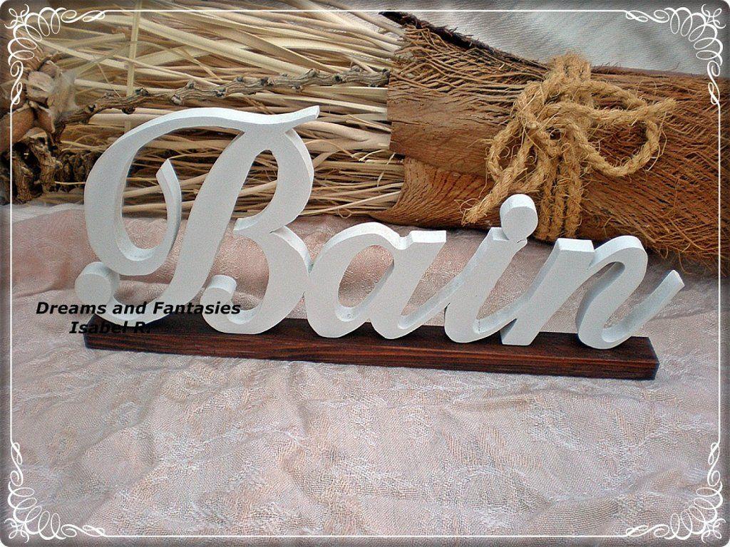 Letras en madera personalizadas letras pinterest letras en madera decorar tu casa y es facil - Casa letras madera ...