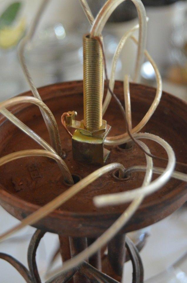 Rewiring a Chandelier | Diy chandelier, Wire chandelier ...