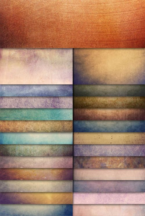 More textures: 25 Colorful Grunge Textures.  More background textures.