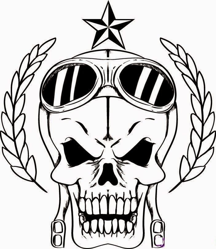 skull free printable coloring pages coloring.filminspector.com | BAD ...