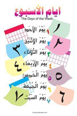 وسائل تعليمية مبتكرة On Instagram تم رفع بطاقات ايام الاسبوع لمعلماتنا العزيزات اعداد مهندستنا الم Arabic Kids Arabic Alphabet For Kids Learn Arabic Alphabet