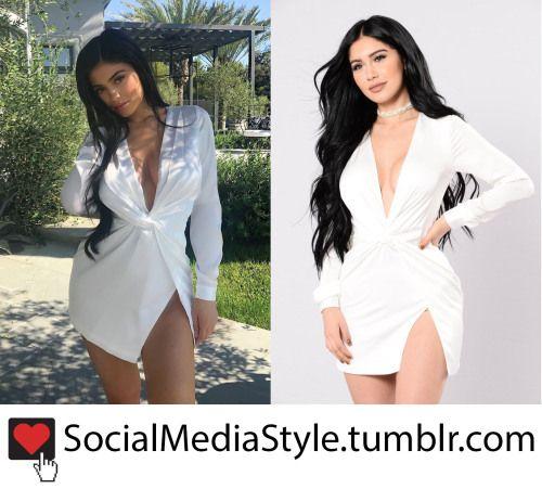 a031442db38 Buy Kylie Jenner s White Knot Front Fashion Nova Dress