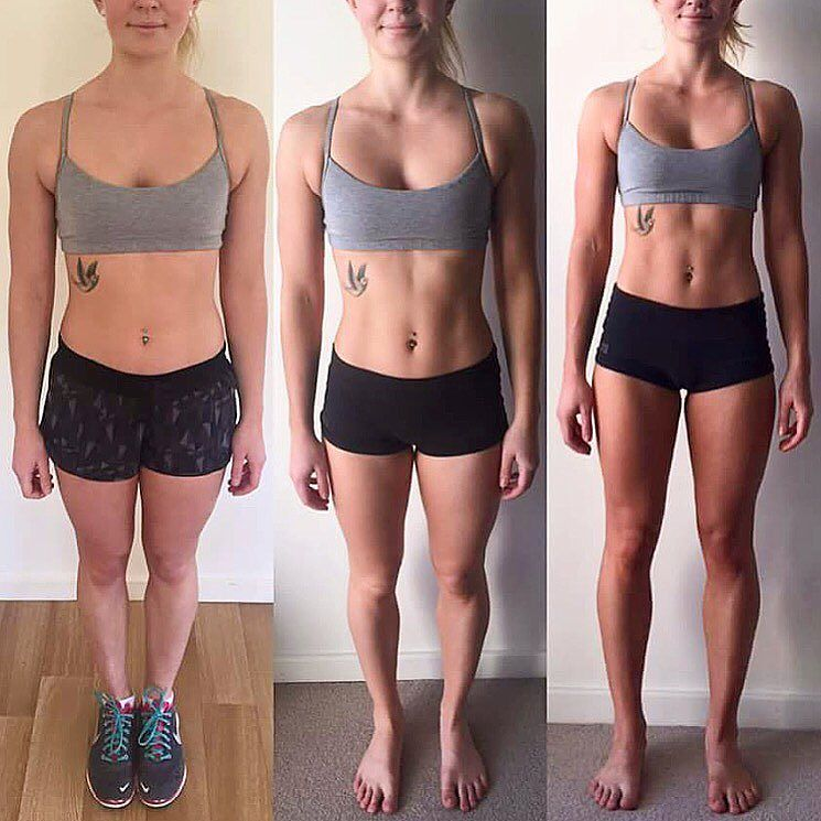 Esther on her 12weeks of #freshbodyfitmind training! (beginning middle and end)  BOOM! I know you had a birthday a few days ago girl  so Happy Birthday you massive babe!! @estherfarley abx Free 7day Pre Training  Click the link in my bio! by amandabisk