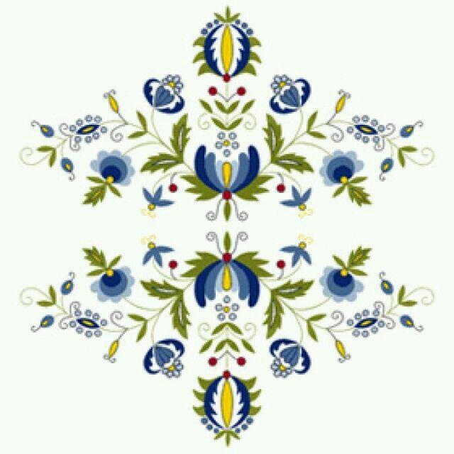 Traditional flower | folk | Pinterest | Embroidery, Polish folk art ...